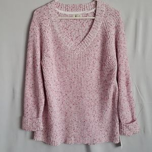 Style & Co V Neck Ribbed PullOver Sweater - XL